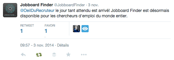 Tweet Jobboard Finder