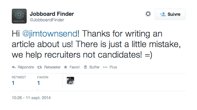 Jobboard Finder Tweet